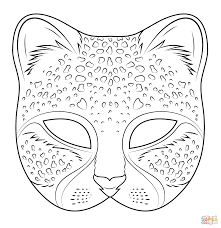 Cheetah Mask Coloring Page From Masks