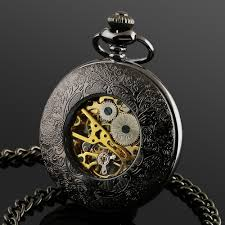 aliexpress com buy ess men s stainless steel case black dial aliexpress com buy ess men s stainless steel case black dial hand wind up r numerals mechanical pocket watch chain wp116 ess from reliable watch
