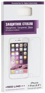 <b>Red Line</b> Tempered <b>Glass защитное стекло</b> для iPhone 7 Plus/8 ...
