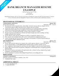 Brilliant Ideas Of Sample Bank Manager Resume With Additional Bank