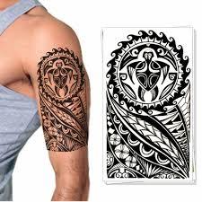 вечерние временная татуировка наклейка маори дизайн тотемов вспышка