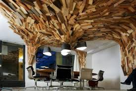 Wall Design Ideas Curvy Ceiling And Wall Design With Wood Planks