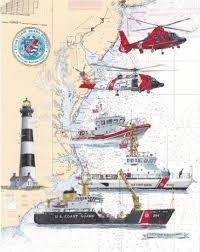 Coast Guard Chart Art Uscg Shore Units Chart Art Prints