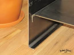 raw steel furniture. Custom Steel Bent Plate Table Details With Raw Finish Furniture E