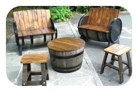 outdoor barrel chairs whiskey