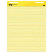 Details About Post It Easel Pads 561 Self Stick Easel Pads Ruled 25 X 30 Yellow 30 Sheet P