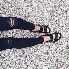 shoes black leather birkenstocks
