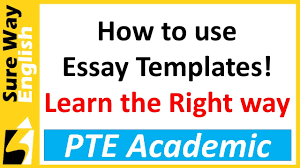 Do You Know The Right Way To Use Templates In Pte Write Essay