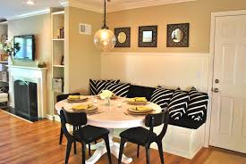 simple small dining room banquette
