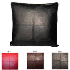Faux Leather Pillows Decorative Pillows