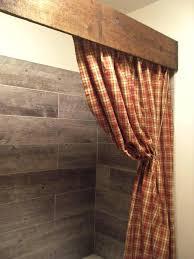 wood shower curtain rod wooden rail wood shower curtain en out dream door