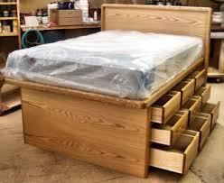 Alluring Full Platform Bed With Storage with Stratton Storage ...