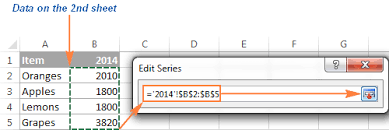 How To Select Series In Excel Chart How To Create A Chart In Excel From Multiple Sheets