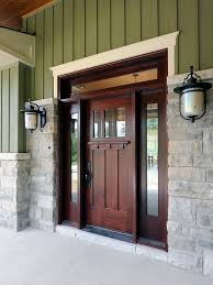 brown stained front door color ideas