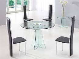 glass dining table and chairs within round idea 18