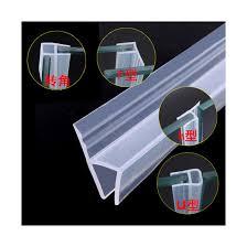 glass door seal strip push pull frame