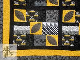 160 best Sports Quilts �� images on Pinterest | A box, Board and ... & with a K quilting: Steelers Football Quilt Adamdwight.com