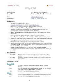 oracle dba resume sample sample resume resume examples oracle developer  sample inside fascinating fascinating oracle developer