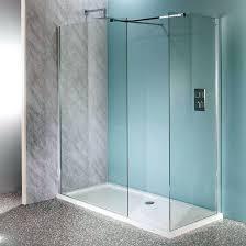 walk in shower splash guard x walk in shower enclosure wet room pack tray glass panels
