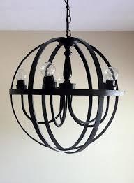 view in gallery diy black orb chandelier