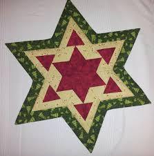 Patchwork Deckchen Weihnachten Stern Weihnachten