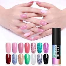 lilycute rose pink uv gel nail polish pure nail color coat soak off uv led diy nail art gel varnish red manicure 5ml malaysia
