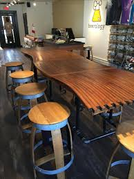 Kitchen Bar Top Buy A Custom Made Barrel Stave Bar Top Kitchen Counter Dining