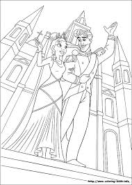 The Princess And The Frog Coloring Pages On