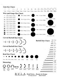 Piercing Size Chart Google Search Piercings Piercings
