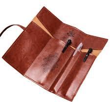 <b>vintage retro</b> roll leather make up cosmetic <b>pen pencil bag</b> at ...