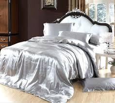 cal king sheets silver bedding sets grey silk satin size queen double quilt duvet cover fitted