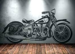large metal motorcycle wall art