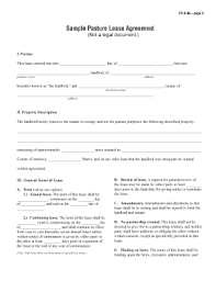 Pasture Lease Agreement Forms And Templates - Fillable & Printable ...