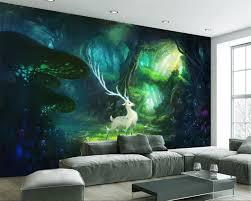 Beibehang Custom 3d Muurschildering Droom Bos Elanden Woonkamer