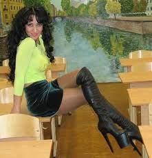 Lesbian Thigh High Boots