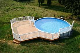 image of above ground pools with decks for