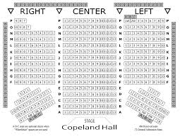 Copeland Hall Concert Seating