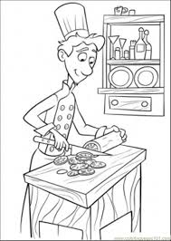 Small Picture Linguini Is Cooking Coloring Page Free Ratatouille Coloring
