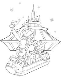 Walt Disney World Coloring Pages Characters Colouring