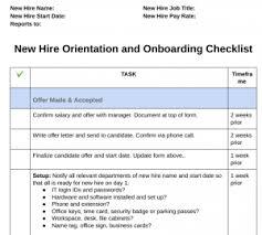 New Employee Orientation With New Hire Orientation Checklist
