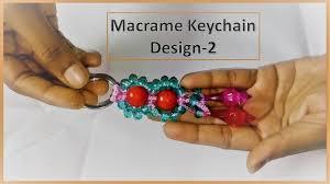 Simple Keychain Design Diy Simple Macrame Keychain Tutorial Design 2 Very Easy