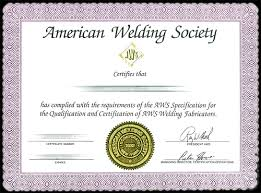 Certified Welding Inspector Cwi According To Aws Certification