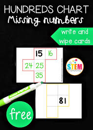 Hundreds Pocket Chart Replacement Cards Hundreds Chart Missing Numbers Cards The Stem Laboratory