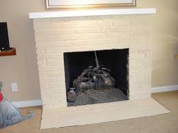 painted brick fireplace brick fireplace with wooden mantle decordigs how to paint a how modern