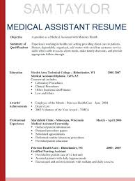 Medical Assistant Resumes Examples Mesmerizing Medical Assistant Resume Templates Unique Medical Resume Examples