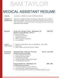 medical resume templates. Medical assistant Resume Templates Unique Medical Resume Examples