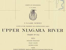 1953 Nautical Chart Map Of The Upper Niagara River