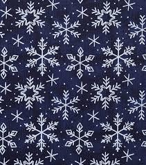 Christmas Textured Cotton Fabric Snowflakes On Blue Joann