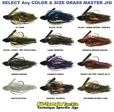 All Terrain Tackle Jigs Grass Master Weeds Mat Punching Any Color Size Atgj