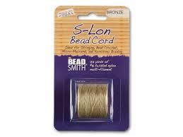 Superlon Thread Size Chart The Beadsmith S Lon Super Lon Bead Cord Bronze 77 Yard Spool